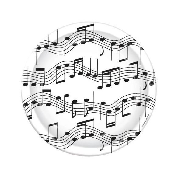 8 assiettes notes de musique GM