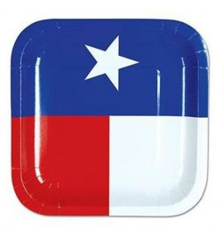 8 Assiettes Texas 18cm