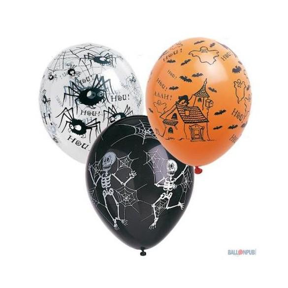8 Ballons Halloween Assortis