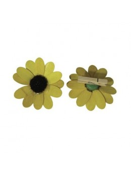 8 Fleurs bois jaune