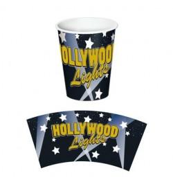 8 gobelets hollywood lights