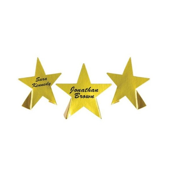 8 Marque place carton forme étoile