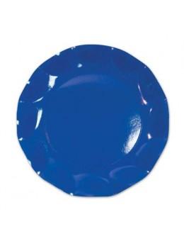10 Assiettes carton bleu roi