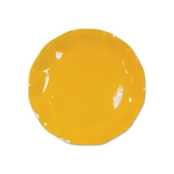 10 Assiettes carton jaune