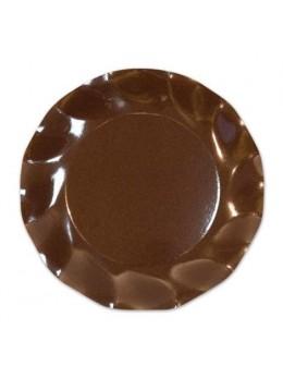 10 Assiettes carton chocolat