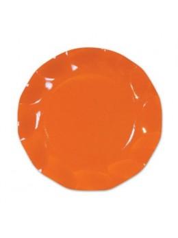 10 Assiettes carton orange