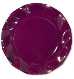 10 Assiettes carton prune