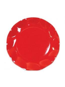 10 Assiettes carton rouge