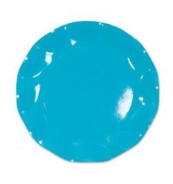 10 Assiettes carton turquoise