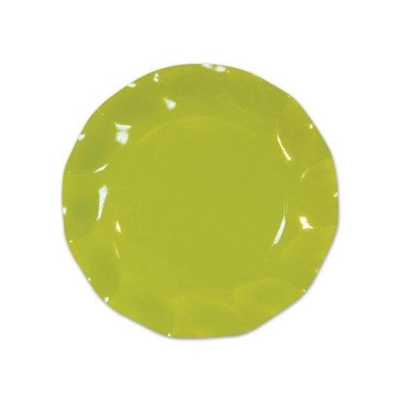 10 Assiettes carton vert Lime