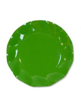 10 Assiettes carton vert pré