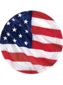 8 Assiettes USA 26.5cm