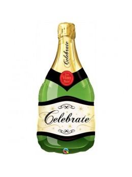 Ballon alu bouteille de champagne