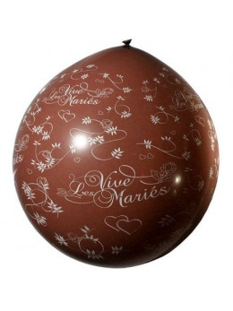 Ballon géant Vive les mariés chocolat