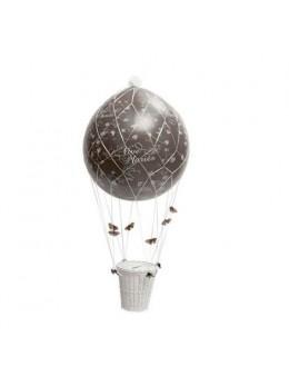 Ballon urne montgolfière deluxe chocolat