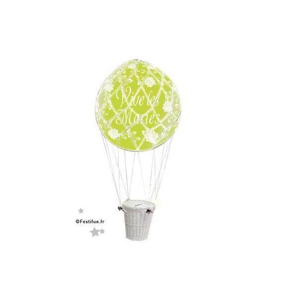 Ballon urne montgolfière deluxe vert