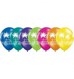 10 Ballons ambiance palmier