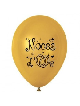 10 Ballons noces d'or 30cm