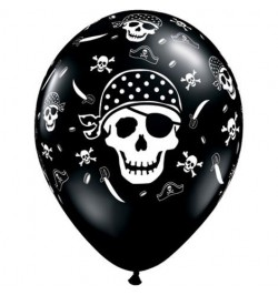 10 Ballons pirate skull