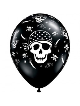 10 Ballons pirate skull
