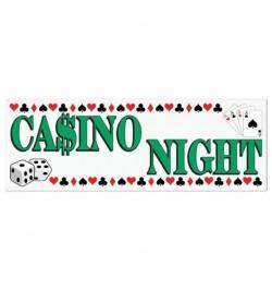 Bannière Casino night