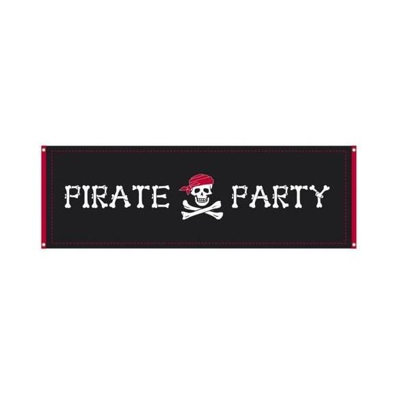 Bannière Pirate tissu 2m20