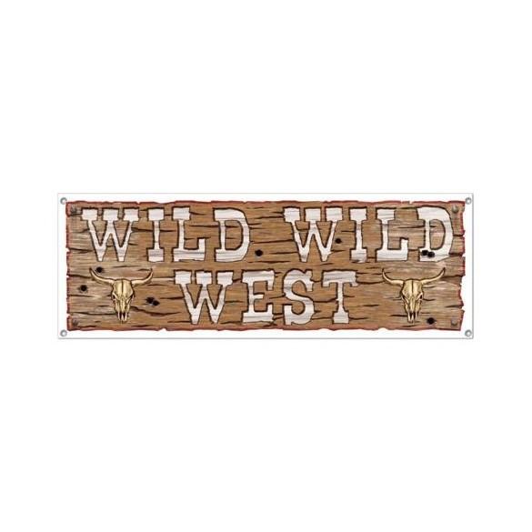 Bannière Wild west 1m50