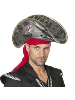 Bicorne pirate tête de mort