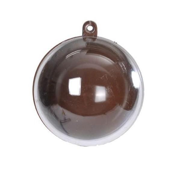 20 Boules PVC couleur chocolat 5cm