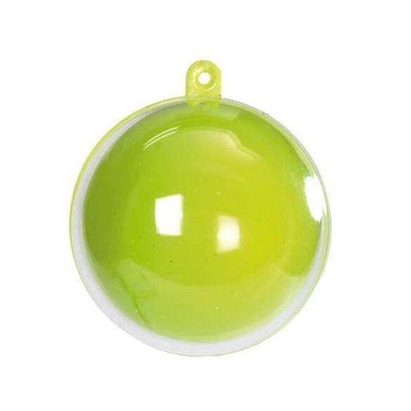 20 Boules PVC couleur vert 5cm