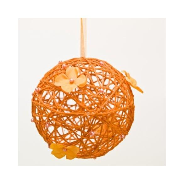 Boule à suspendre orange