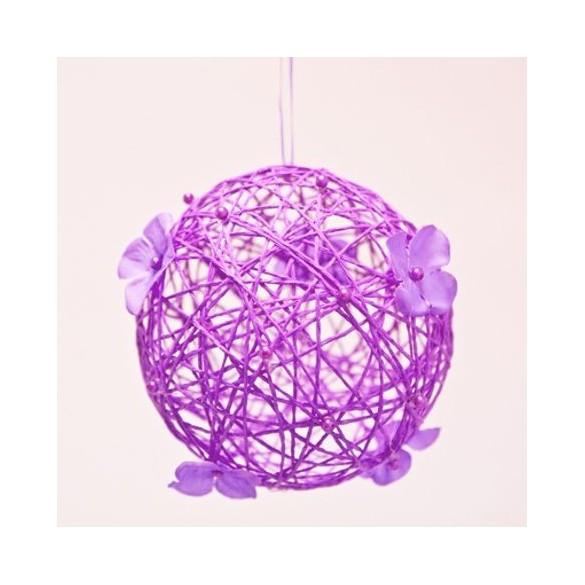 Boule à suspendre prune