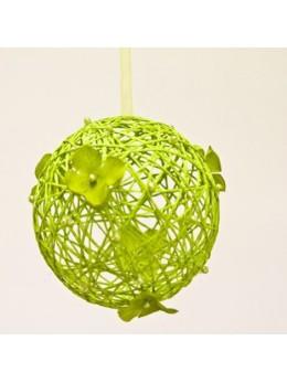 Boule à suspendre verte