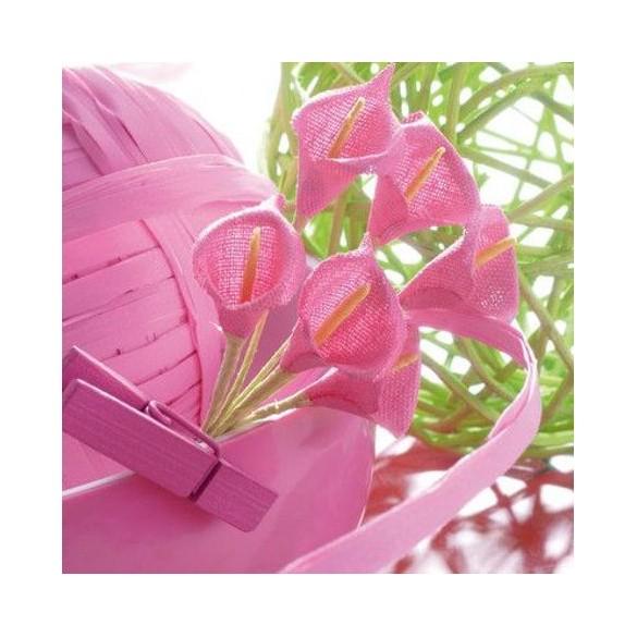 Bouquet Arum fuchsia