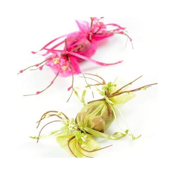 Bouquet fleurs de pommier fuchsia