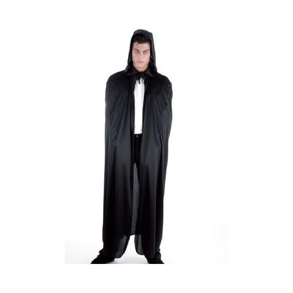 Cape capuche tissu noire 190cm