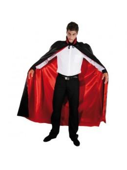 Cape Dracula satin rouge et noire