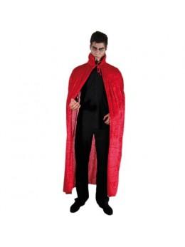 Cape vampire velours rouge avec col