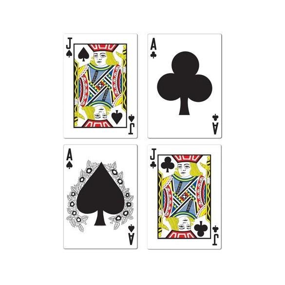 4 Cartes Casino géantes