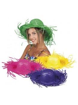 Chapeau antillais paille couleur