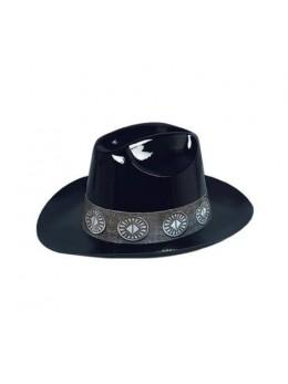 Chapeau cowboy plastique noir