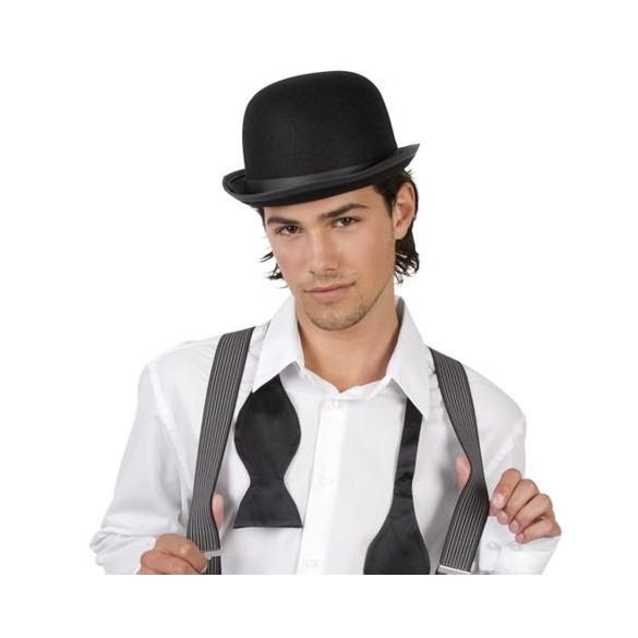 Chapeau feutre melon noir