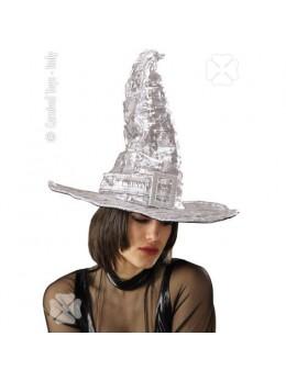 Chapeau sorcière argent