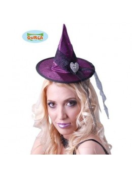 Chapeau sorcière manga prune