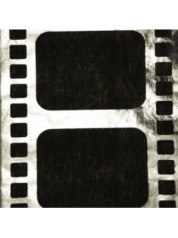 Chemin de table cinéma noir argent