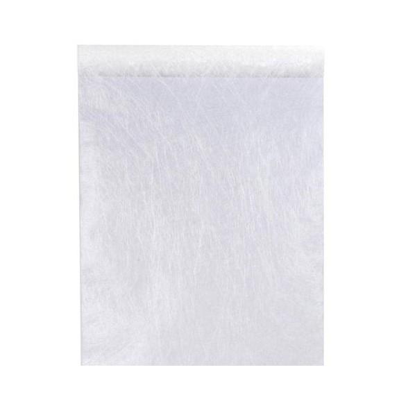 Chemin de table intissé luxe blanc 10m