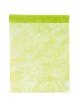 Chemin de table intissé luxe vert lime 10m