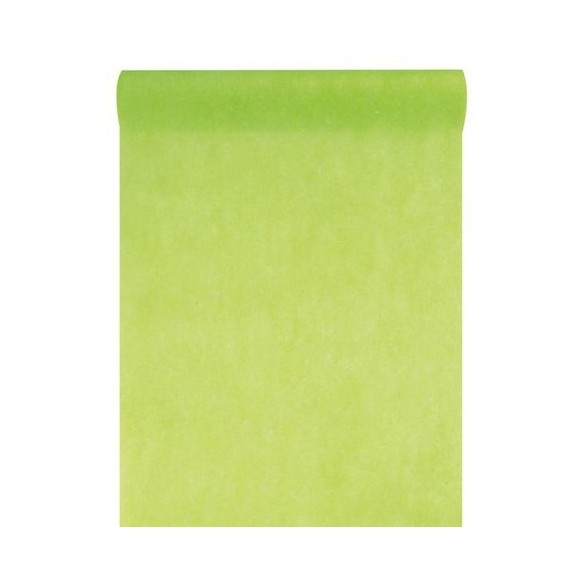 Chemin de table intissé 10m vert lime