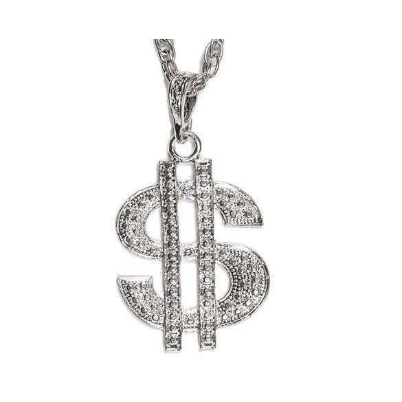 Collier dollars argent