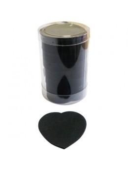 Confetti de scène coeurs noir